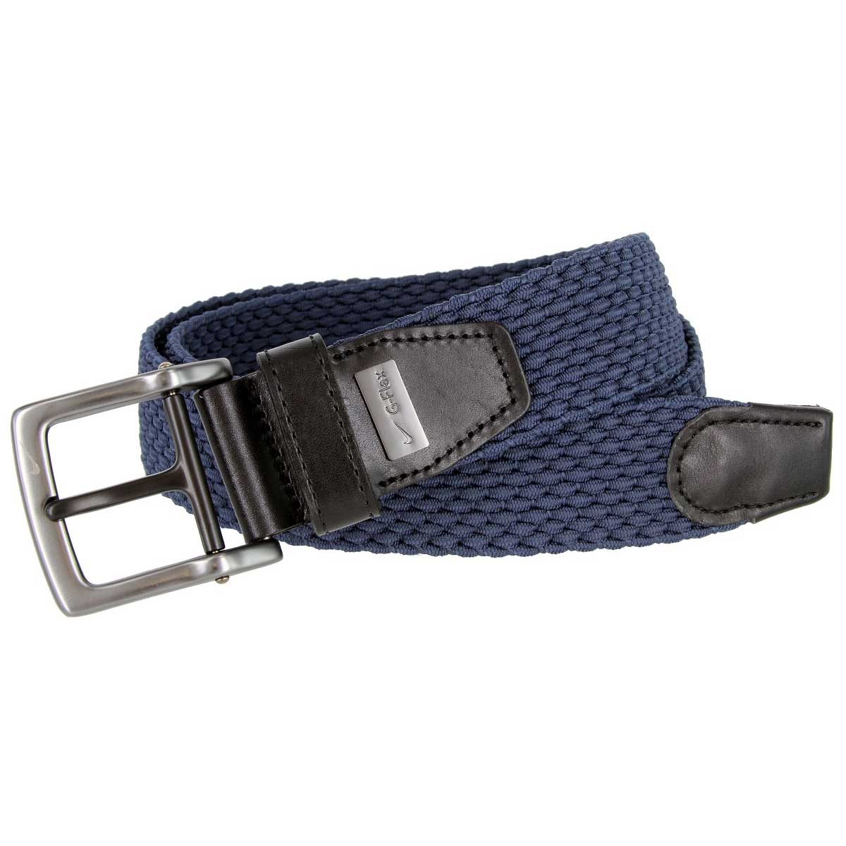 Nike Men's Stretch Woven Braided Navy Golf Belt