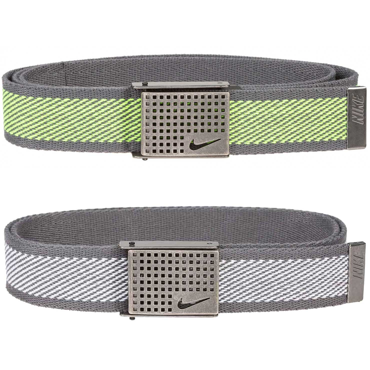 Nike Diagonal Web Belt With Cutout Buckle