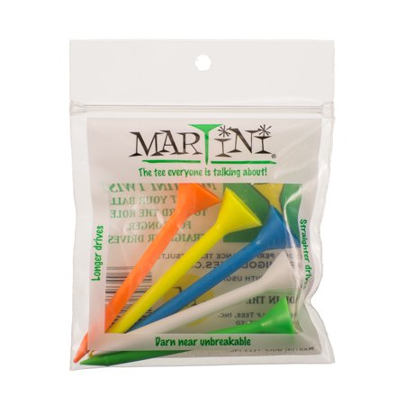 Martini 3 1/4 Multi Five Pack Muticolor Golf Tees