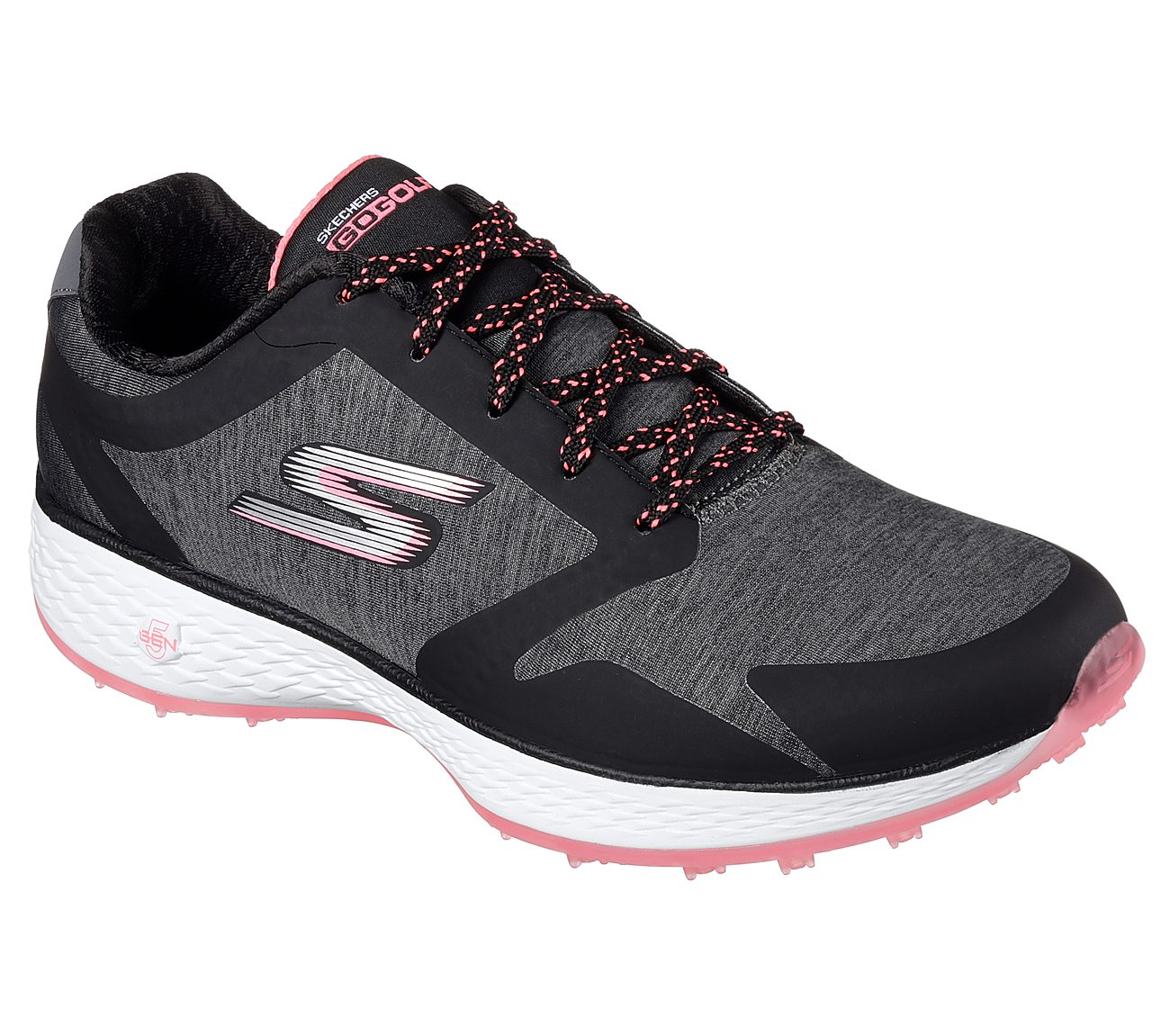 Skechers Women's Go Golf Famed Golf Shoe - Black/Pink