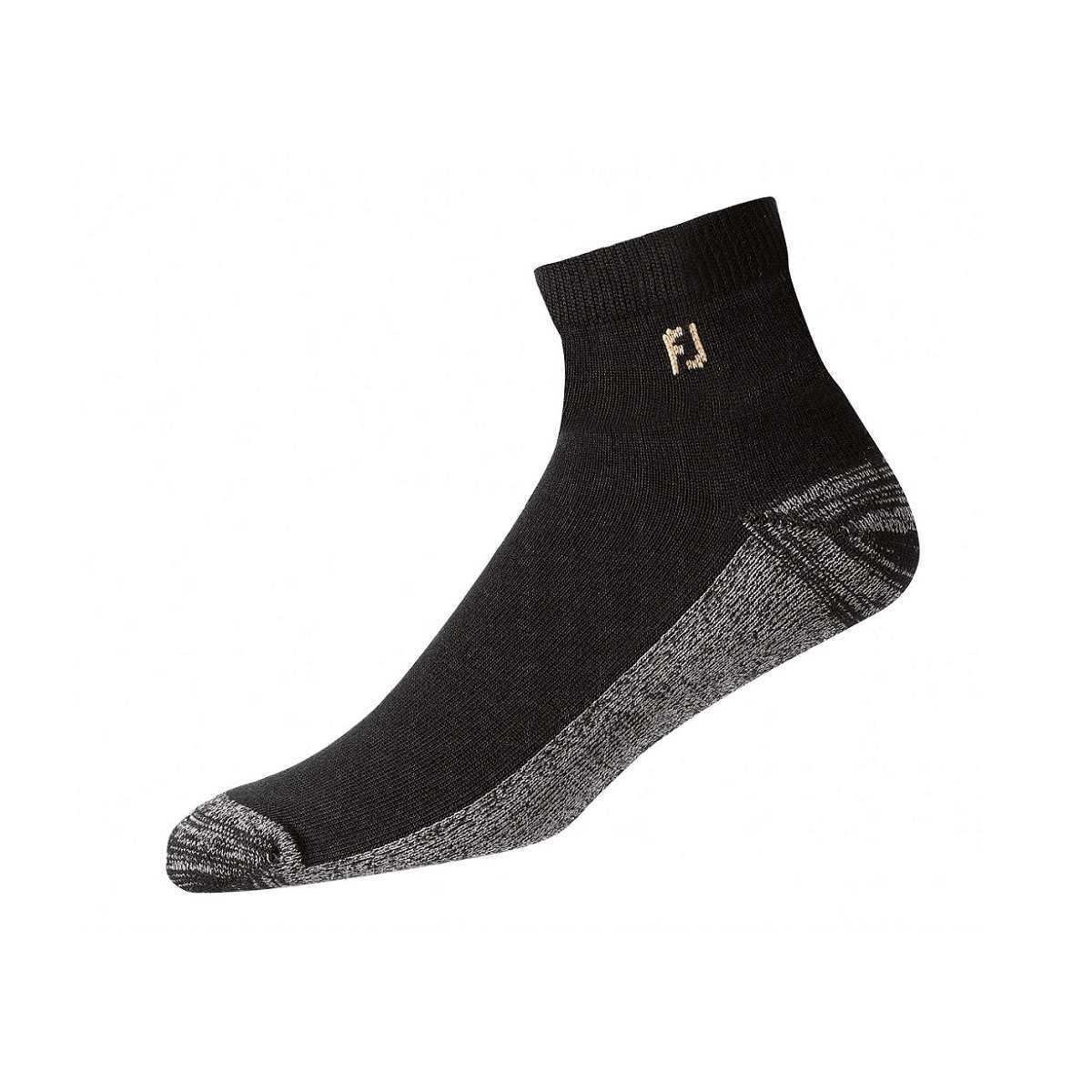 FootJoy ProDry Men's Black Quarter Socks