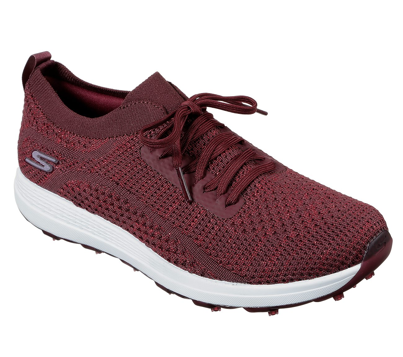 Skechers Women's Go Golf Max Glitter Burgundy Golf Shoe
