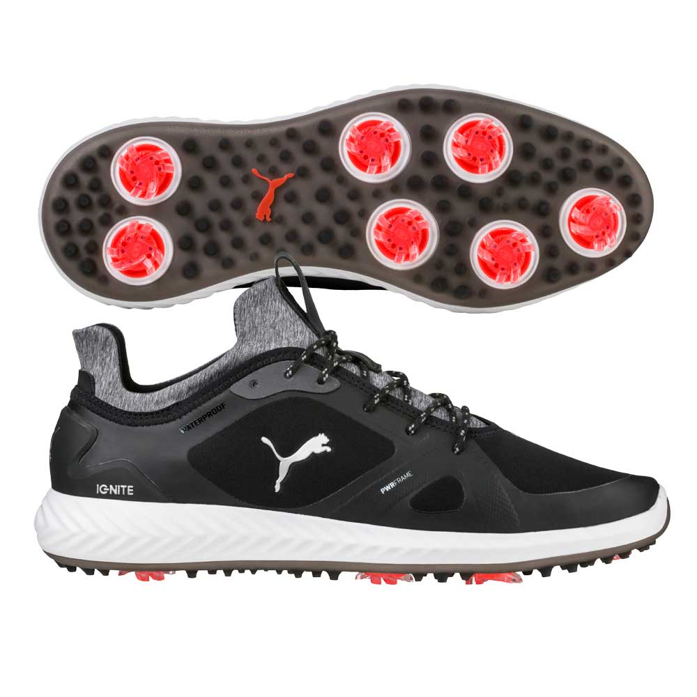 Puma Men's Ignite PWRADAPT Black Golf Shoes