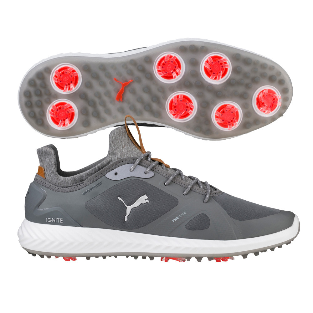 Puma Ignite PWRAdapt Grey Golf Shoes