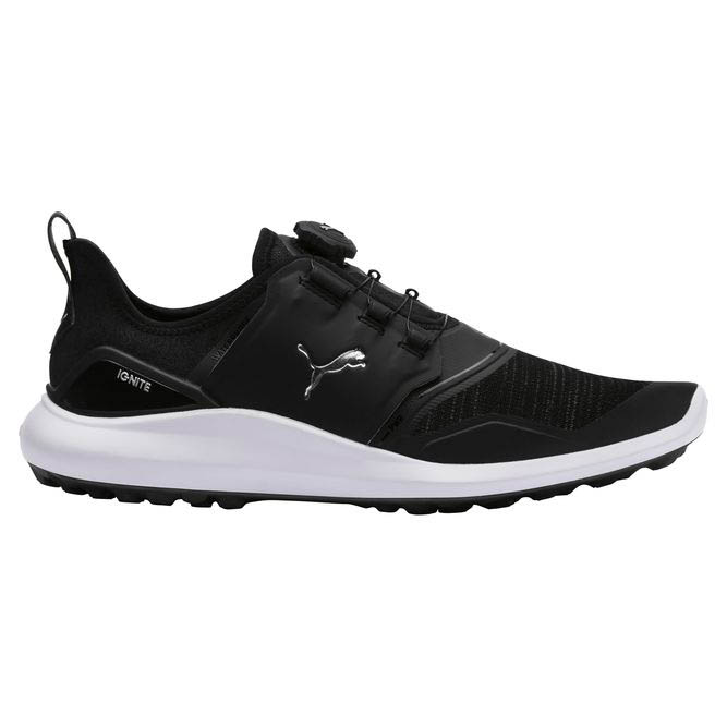 Puma Men's Ignite NXT DISC Black/Silver Golf Shoes