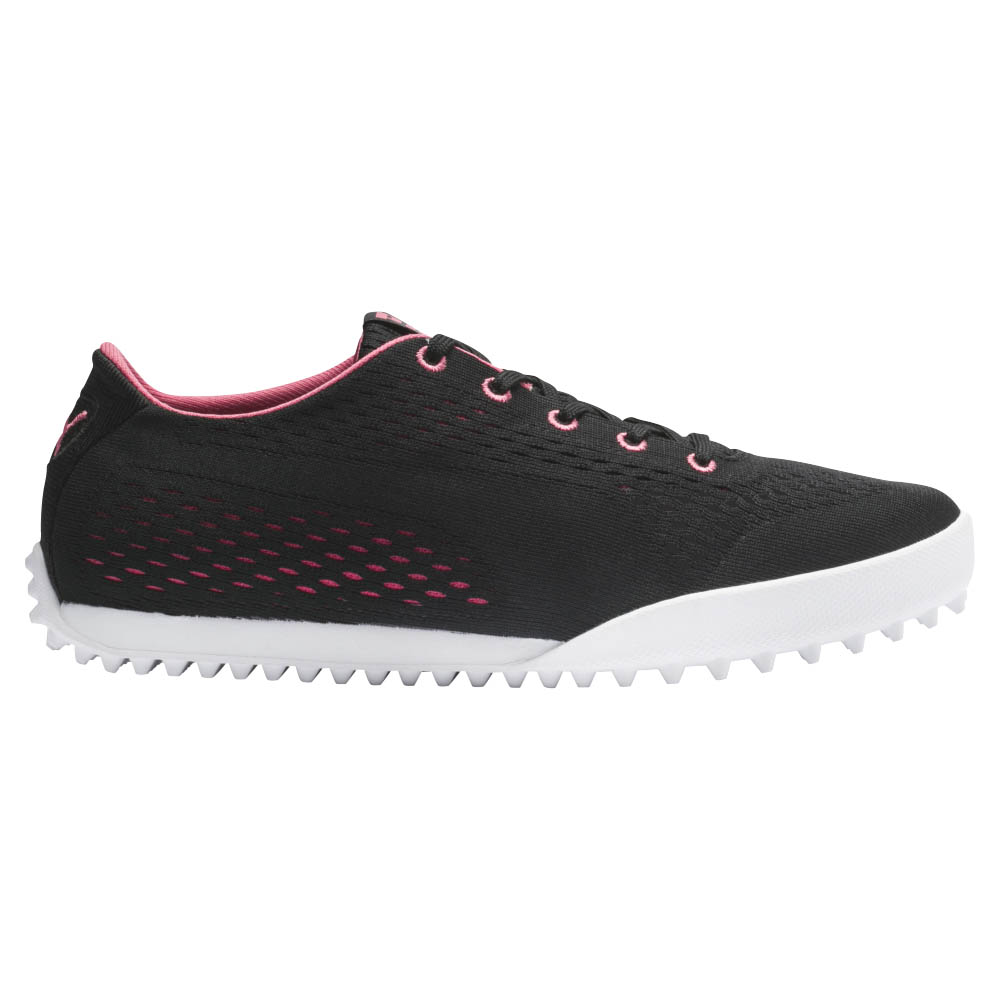 Puma Women's Monolite Cat Em Black/Rose Golf Shoes