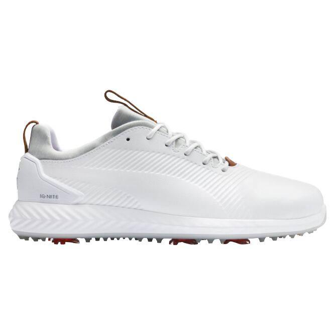 Puma Men's Ignite Pwradapt Leather 2.0 White Golf Shoe