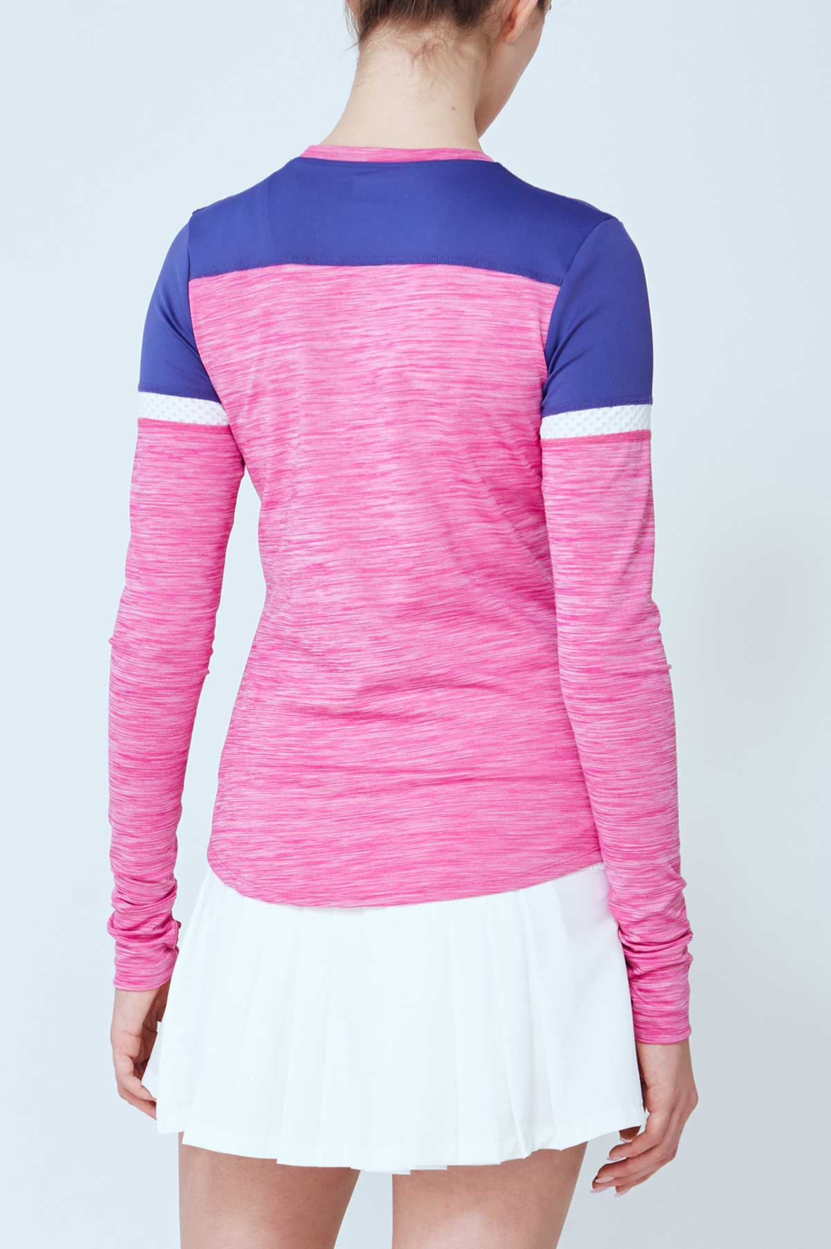 Lija Women's Apex Pacer Long Sleeve Raspberry Shirt