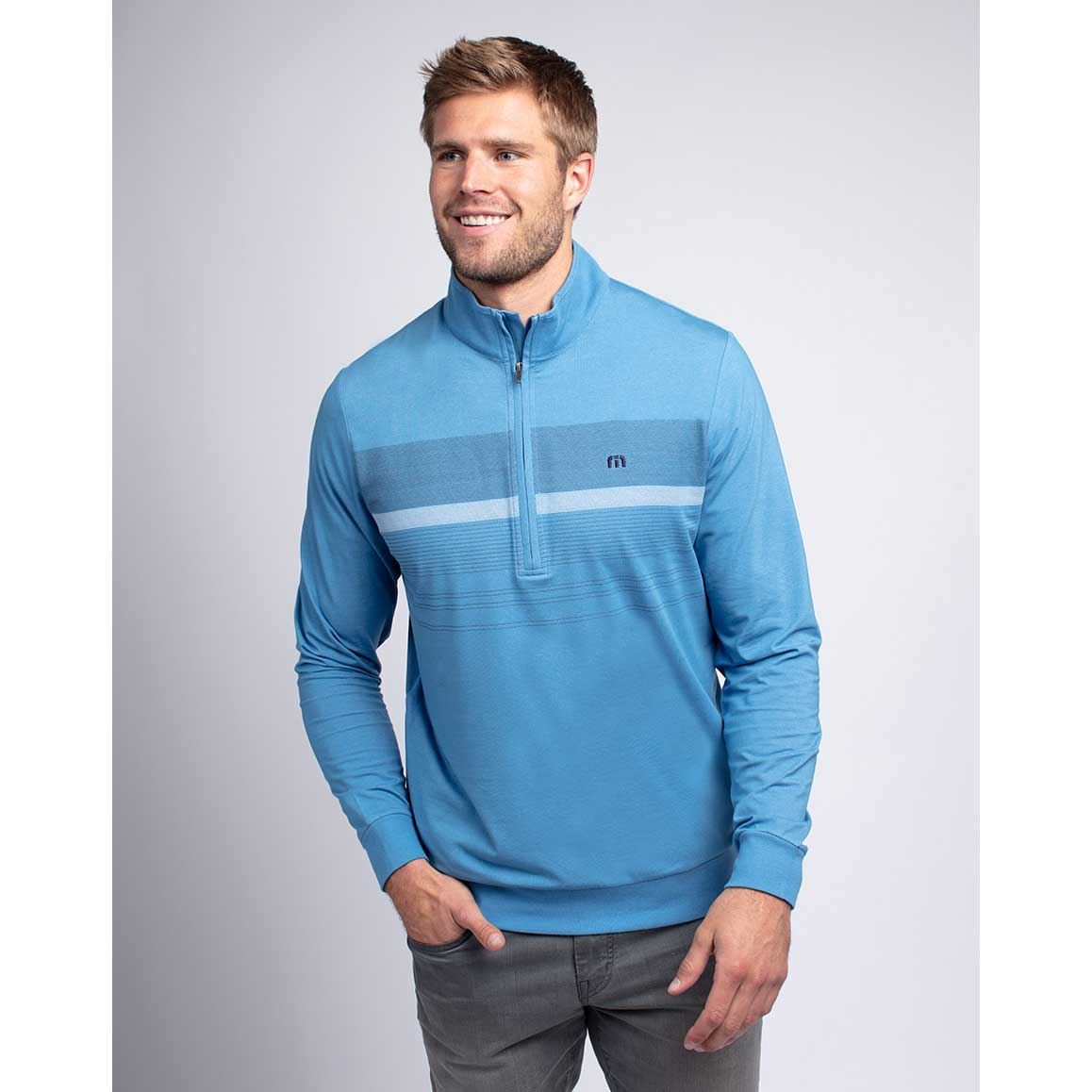 Travis Mathew Blue Blood 1/2 Zip Pullover