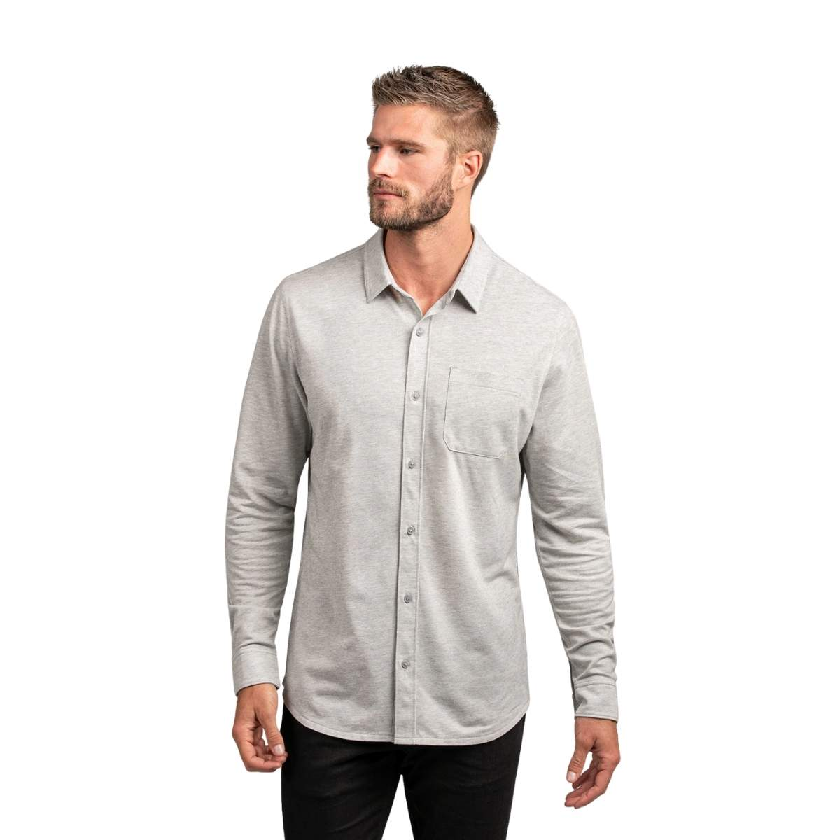 Travis Mathew Slater Long Sleeve Button Up Polo