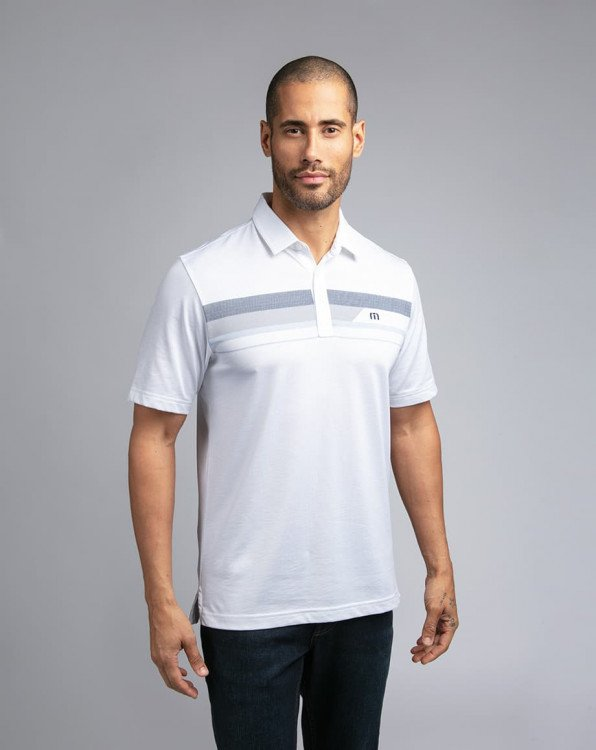 Travis Mathew Gone Fishing White Polo