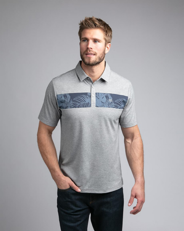 Travis Mathew Everything Is Kewl Heather Grey Polo