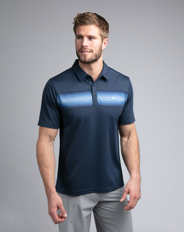 Travis Mathew The Big Freeze Mood Indigo Polo