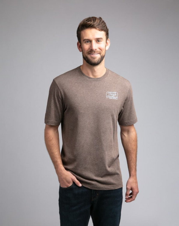 Travis Mathew Dollar Menu Heather Coffee T-Shirt