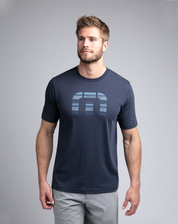 Travis Mathew Social Media Mood Indigo T-Shirts