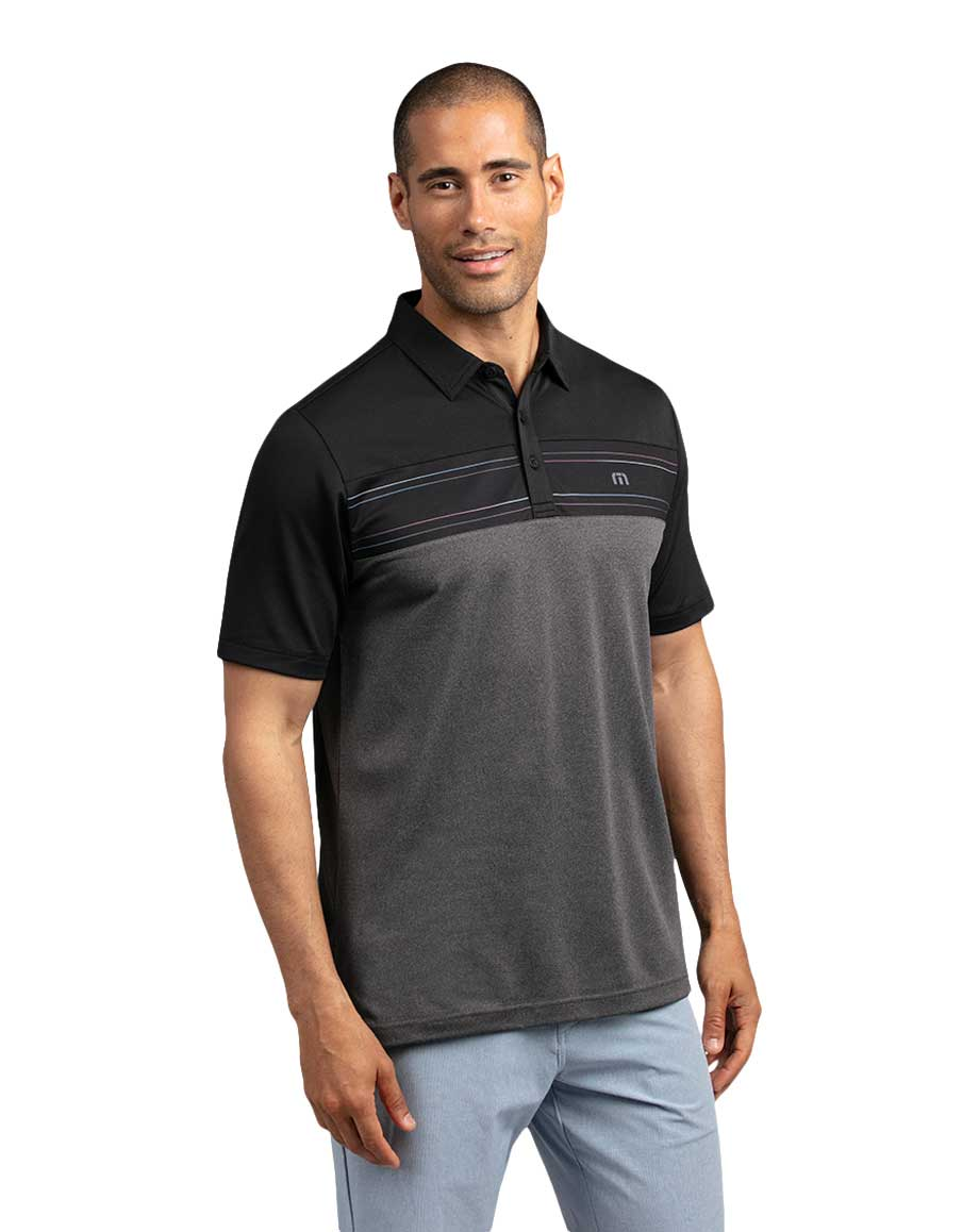 Travis Mathew Properly Hydrated Black Polo