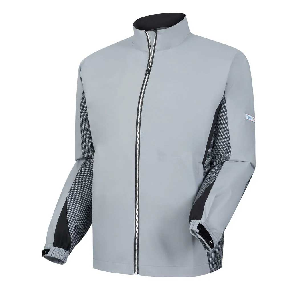 FootJoy HydroLite Grey Full Zip Rain Jacket