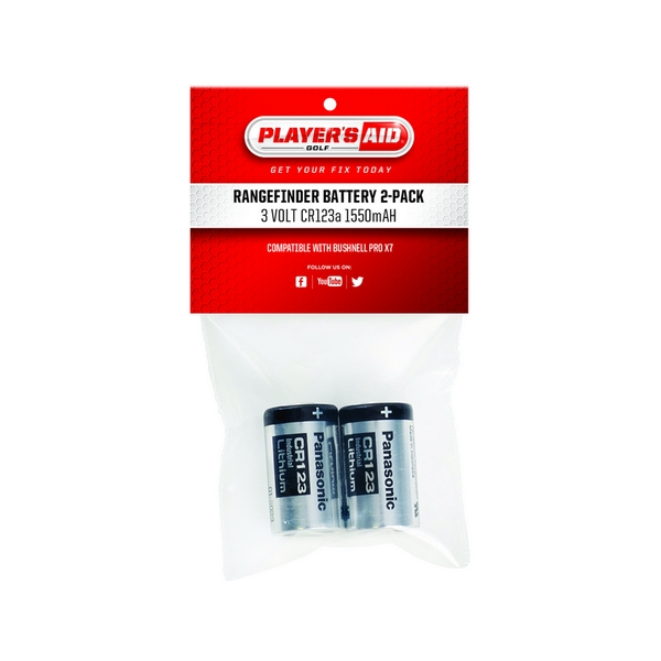 Golf Range Finder CR123 2 Pack Replacement Batteries