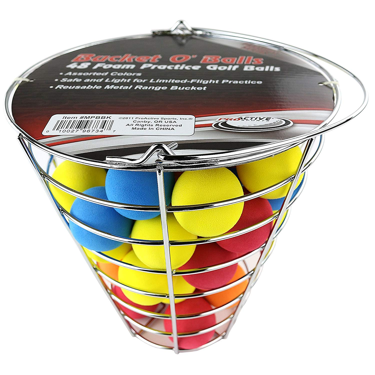 42 Foam Golf Balls in Bucket