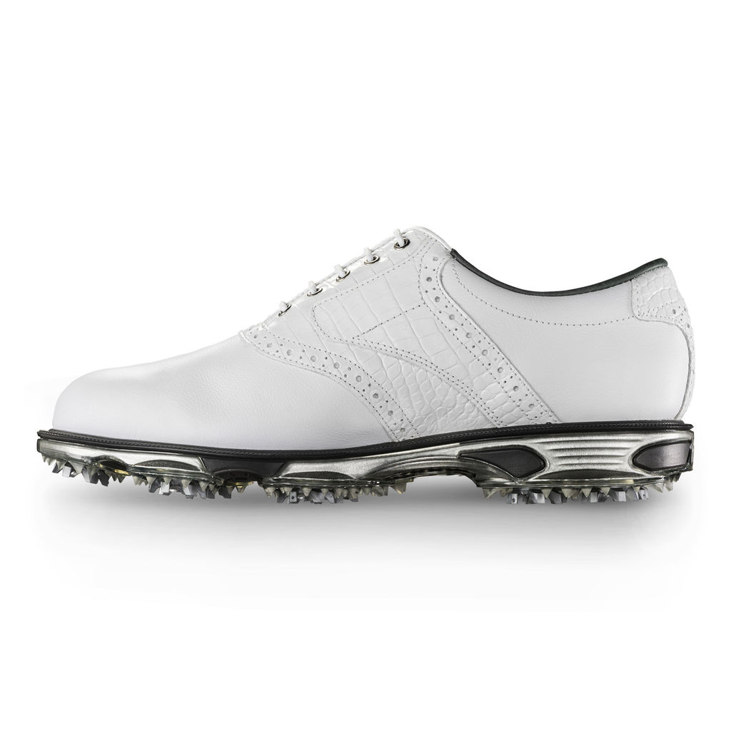 FootJoy DryJoys Tour White Golf Shoes (#53673)