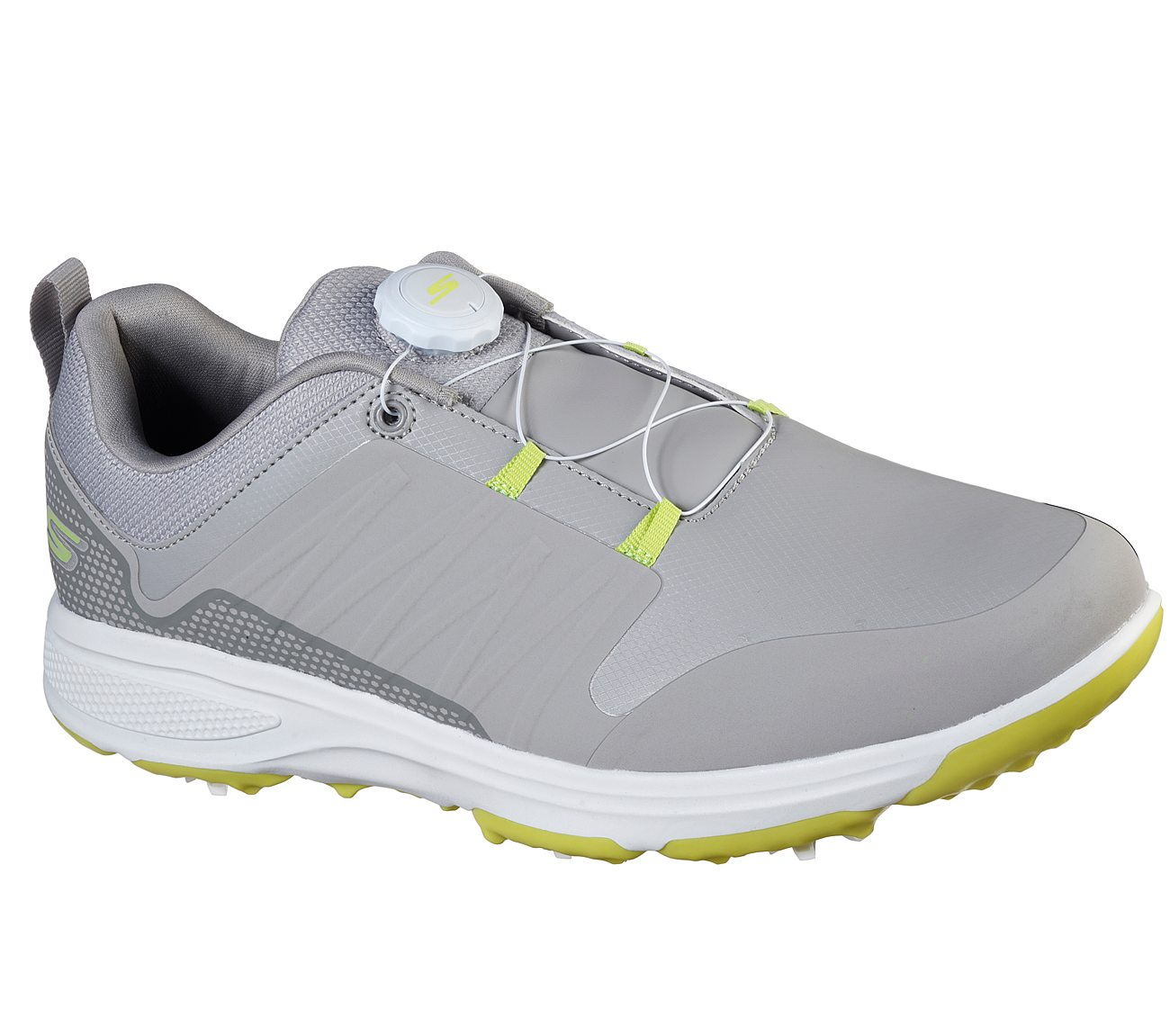 Skechers Men's Go Gole Torque Twist Grey/Lime Golf Shoe