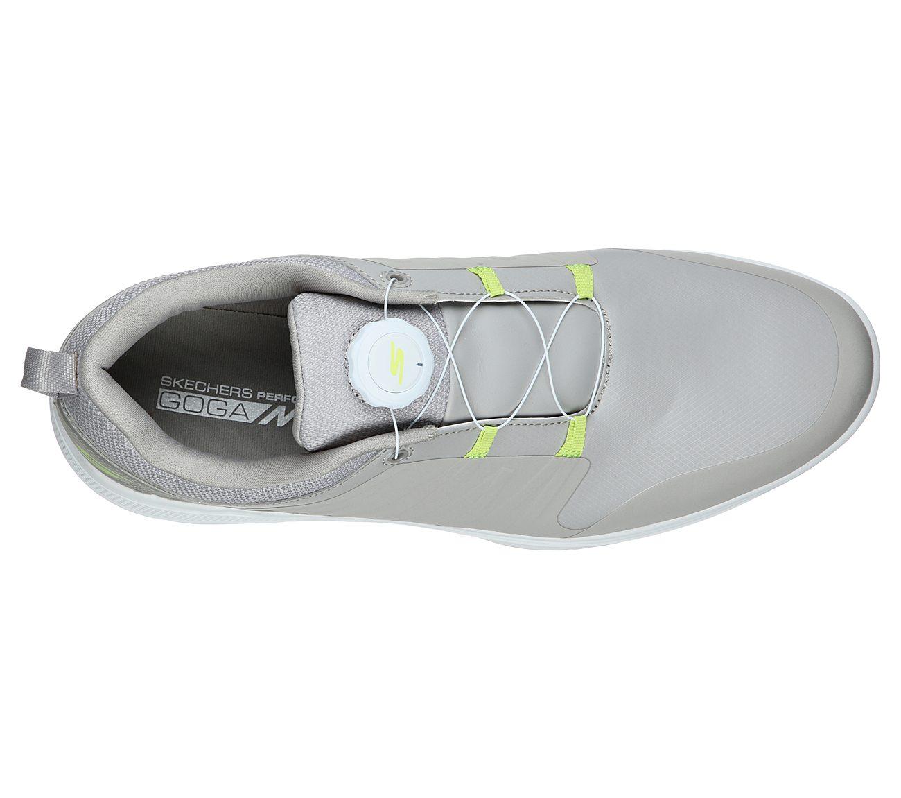 Skechers Men's Go Gole Torque Twist Grey/Lime Golf Shoe