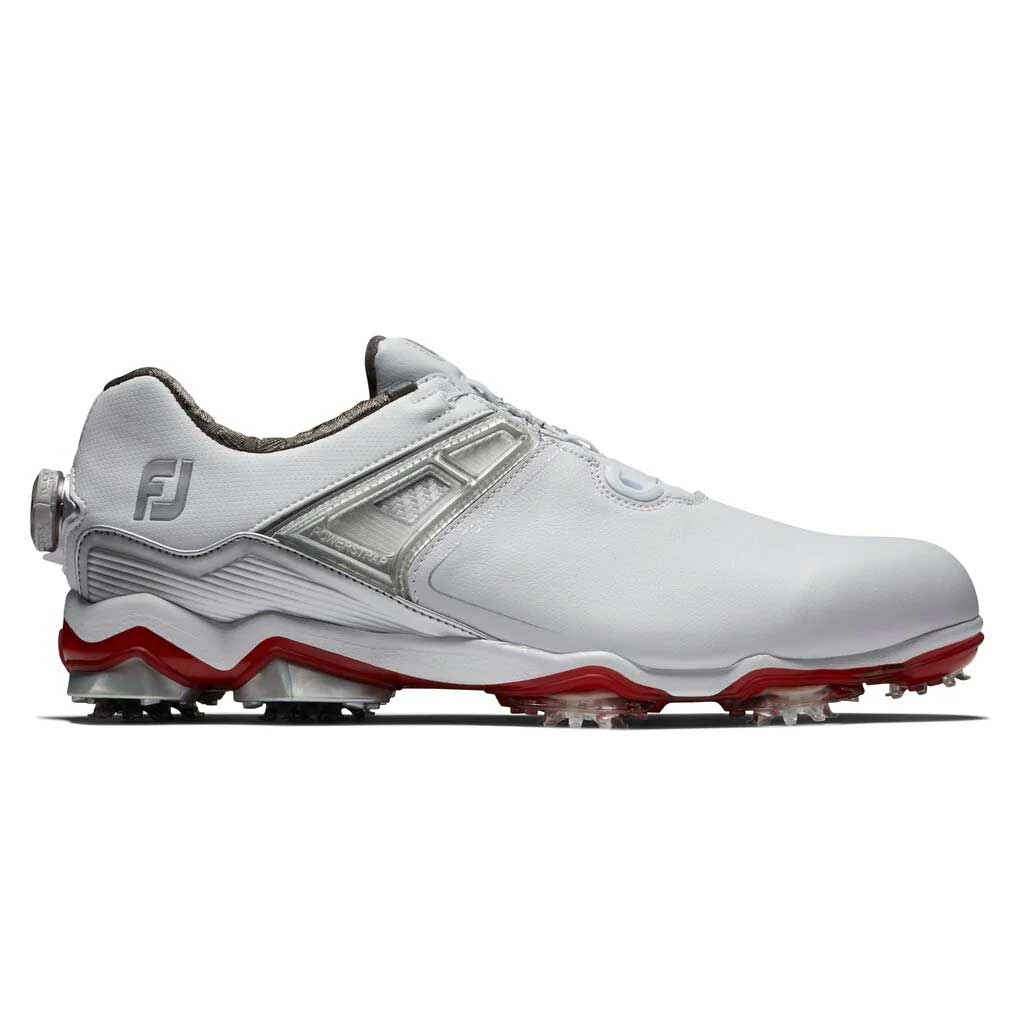 FootJoy Men's Tour X BOA White/Grey/Red Golf Shoe