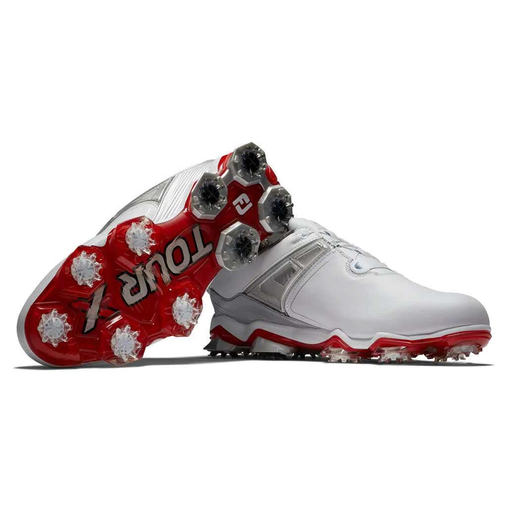 FootJoy Men's Tour X BOA White/Grey/Red Golf Shoe