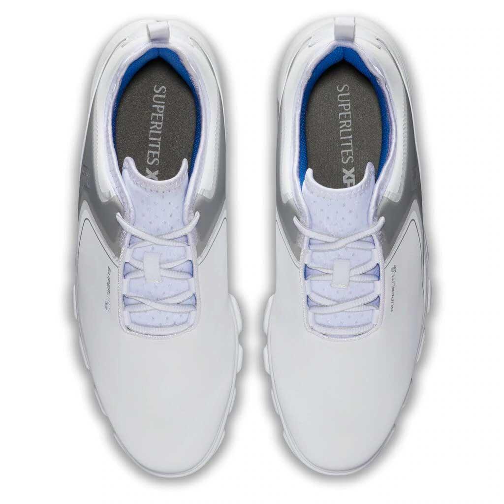 FootJoy Men's Superlites XP White/Grey/Blue Golf Shoe