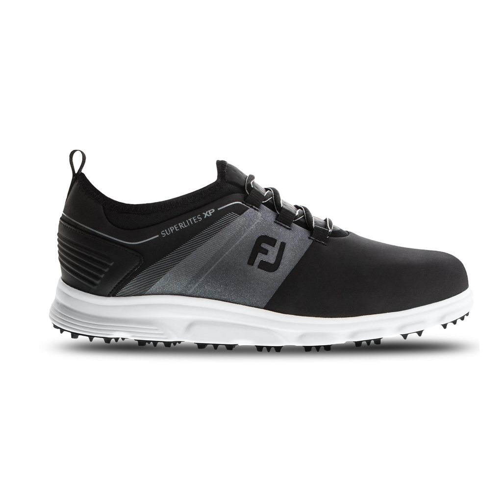 FootJoy Men's Superlites XP Black/Grey Golf Shoes - Previous Season #58066