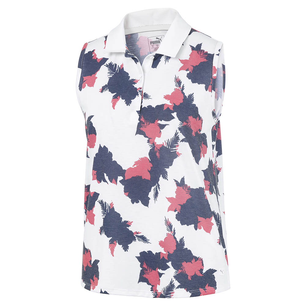 Puma Women's 2020 Floral Sleeveless Polo