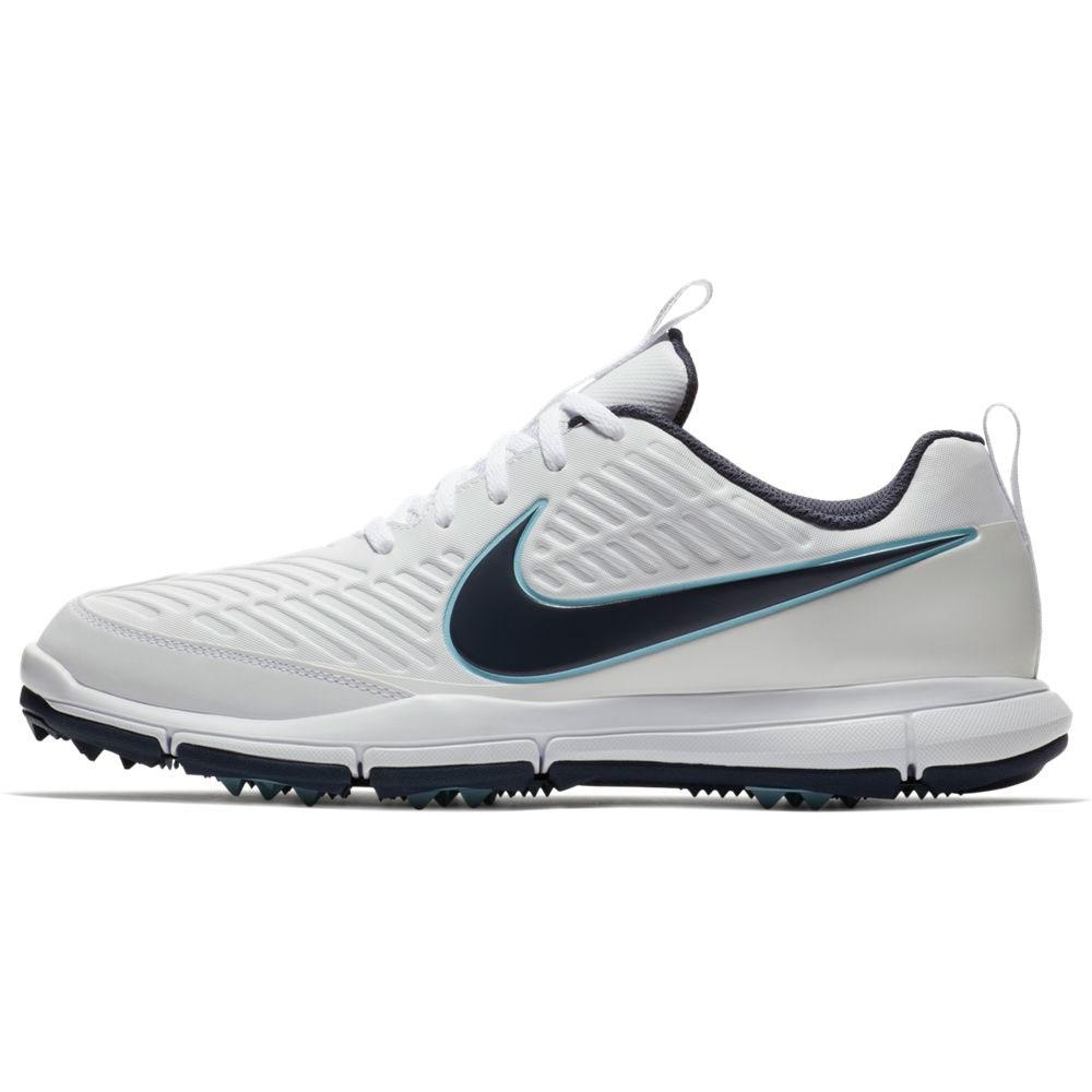 Nike Men's Explorer 2 White/Blue Golf Shoe