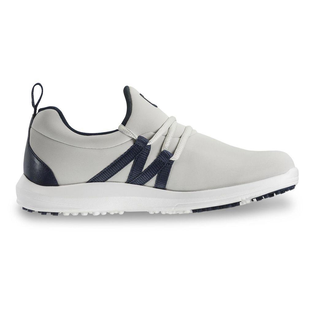 FootJoy Women's Leisure Slip On Sand/Navy Golf Shoes - Previous Season Style #92909