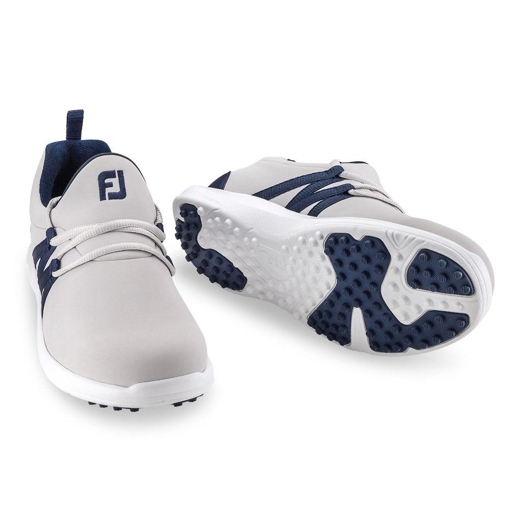 FootJoy Women's Leisure Slip On Sand/Navy Golf Shoes - Disc. Style 92909