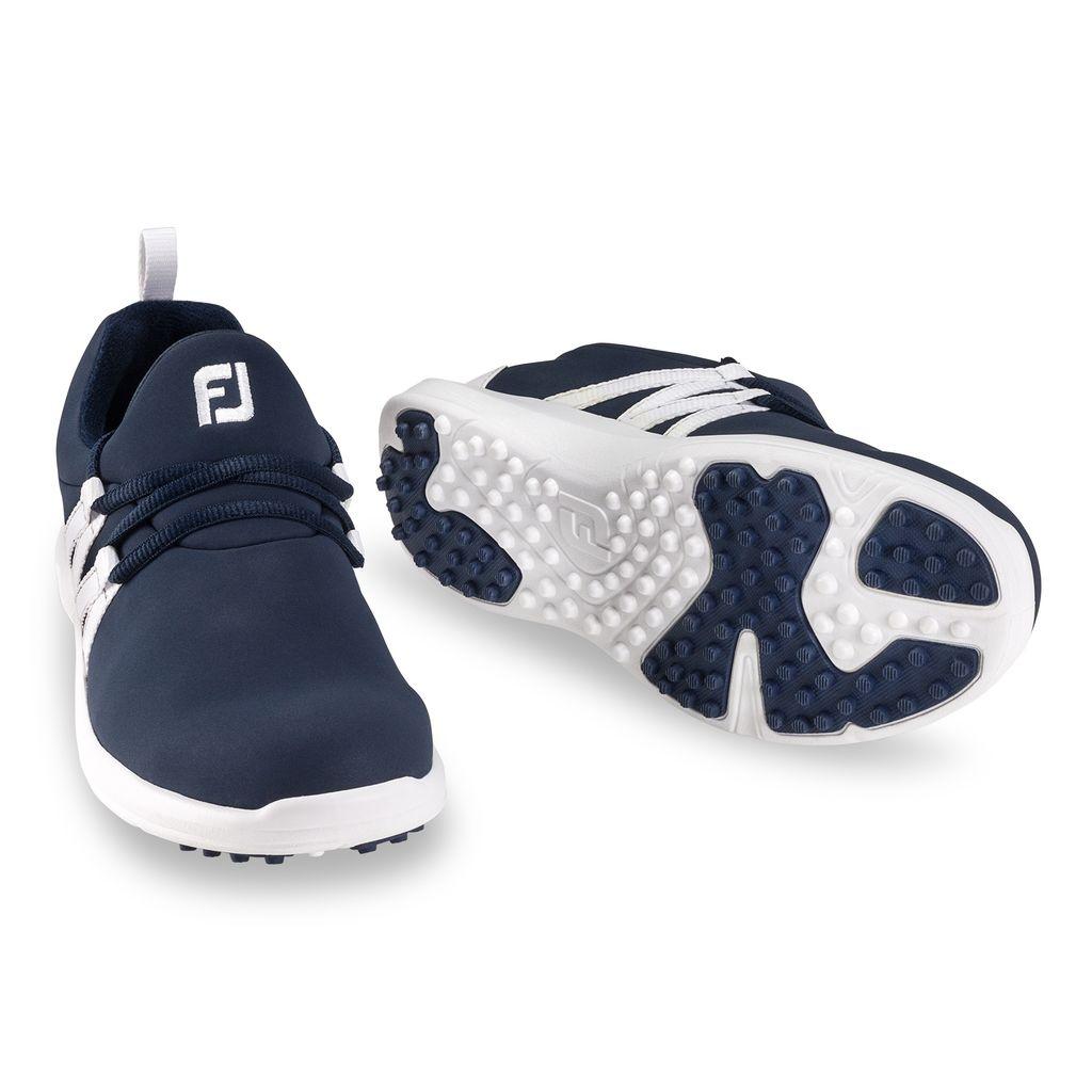FootJoy Women's Leisure Slip On Navy/White Golf Shoes - Disc. Style 92911