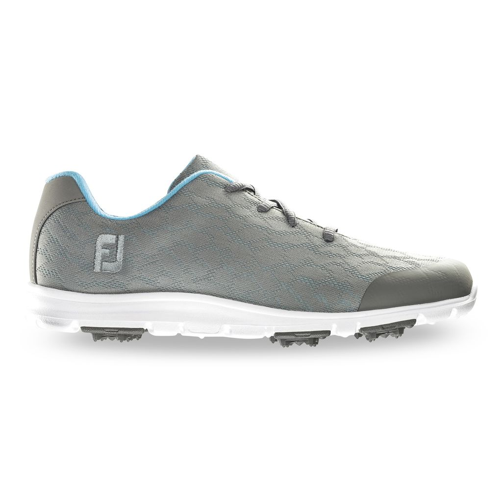 FooJoy Women's enJoy Grey Golf Shoes - Previous Season #95713