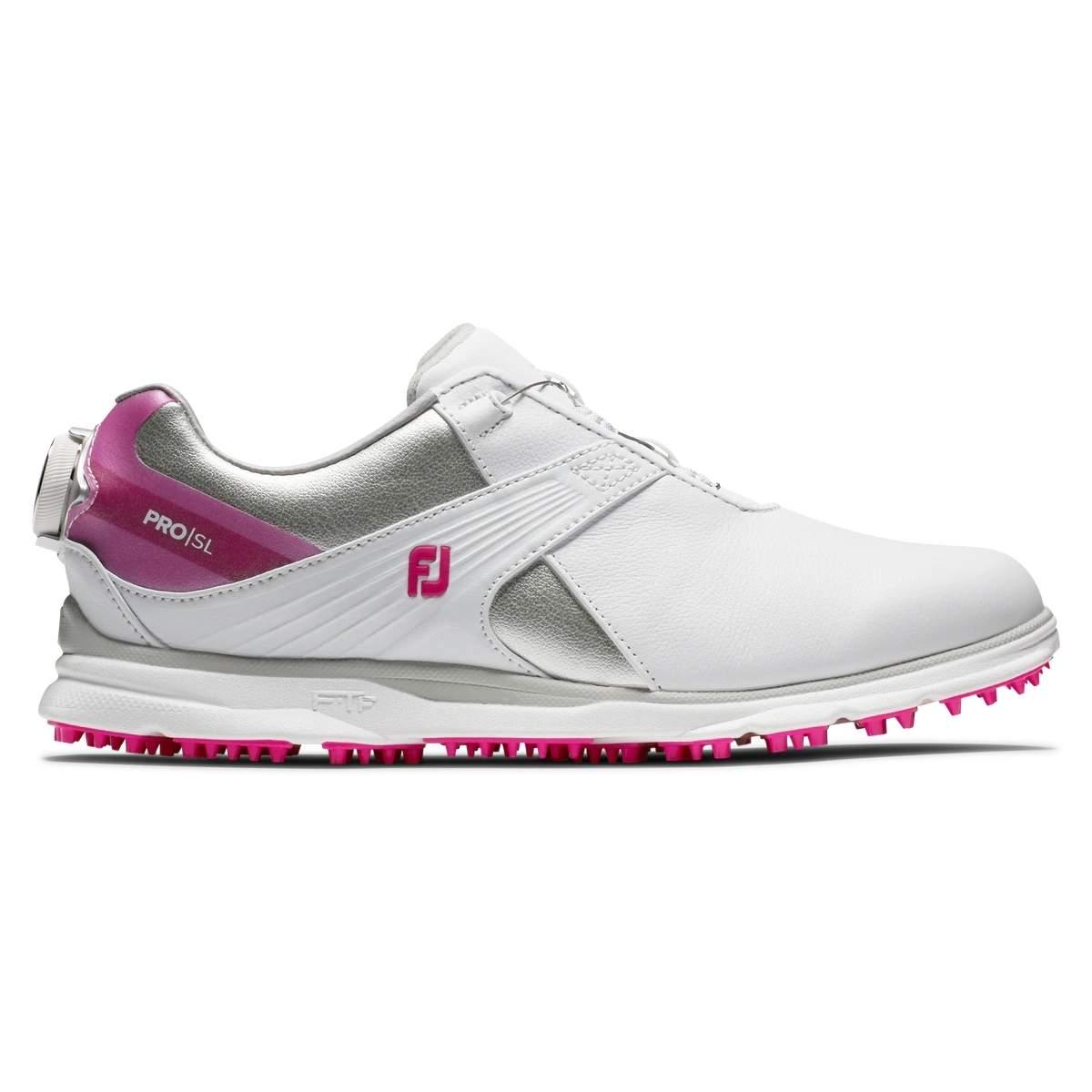 FootJoy Women's Pro|SL BOA White/Pink Golf Shoe - Style 98119