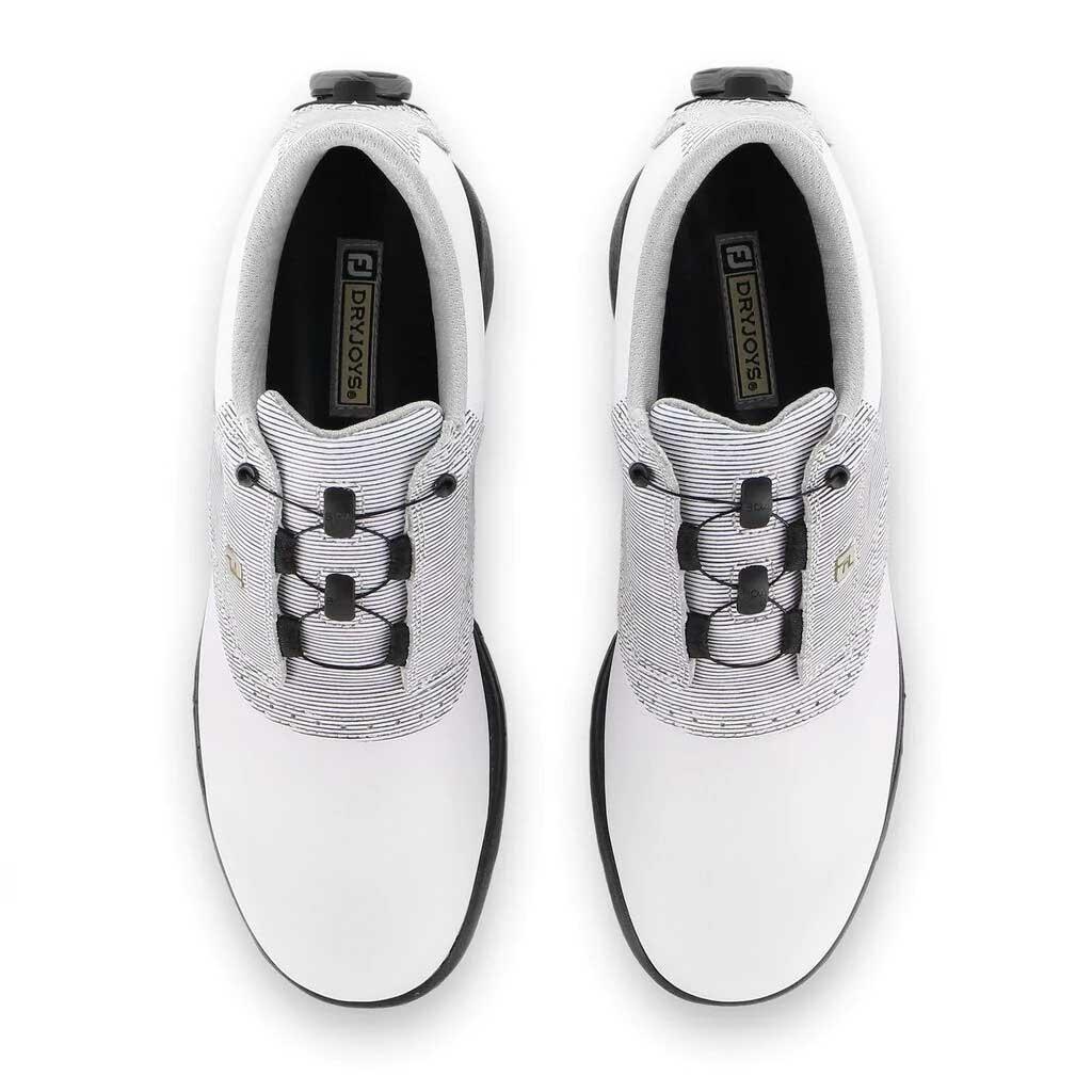 FootJoy Women's DryJoys BOA White/Black Print Golf Shoe (Disc. #99018)