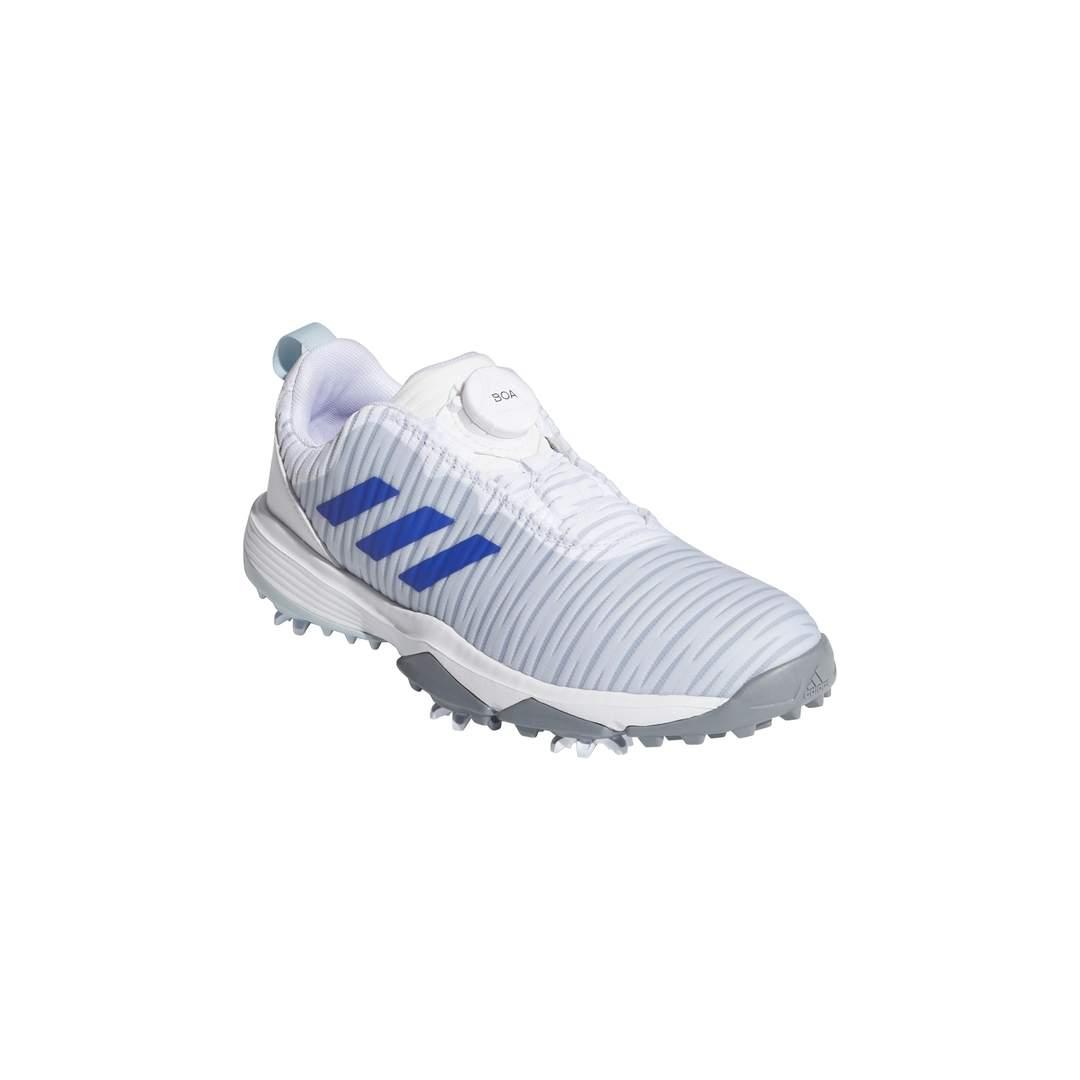 Adidas Junior CodeChaos Boa Golf Shoe - White/Blue