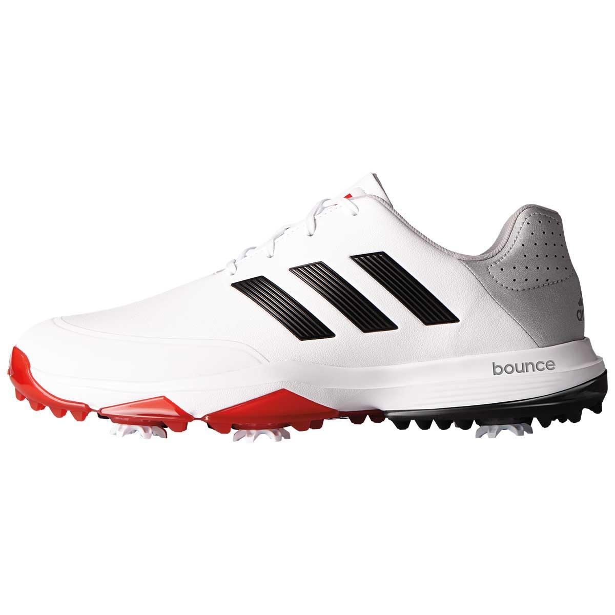 adidas Men's AdiPower Bounce Golf Shoe - White/Black/Scarlet