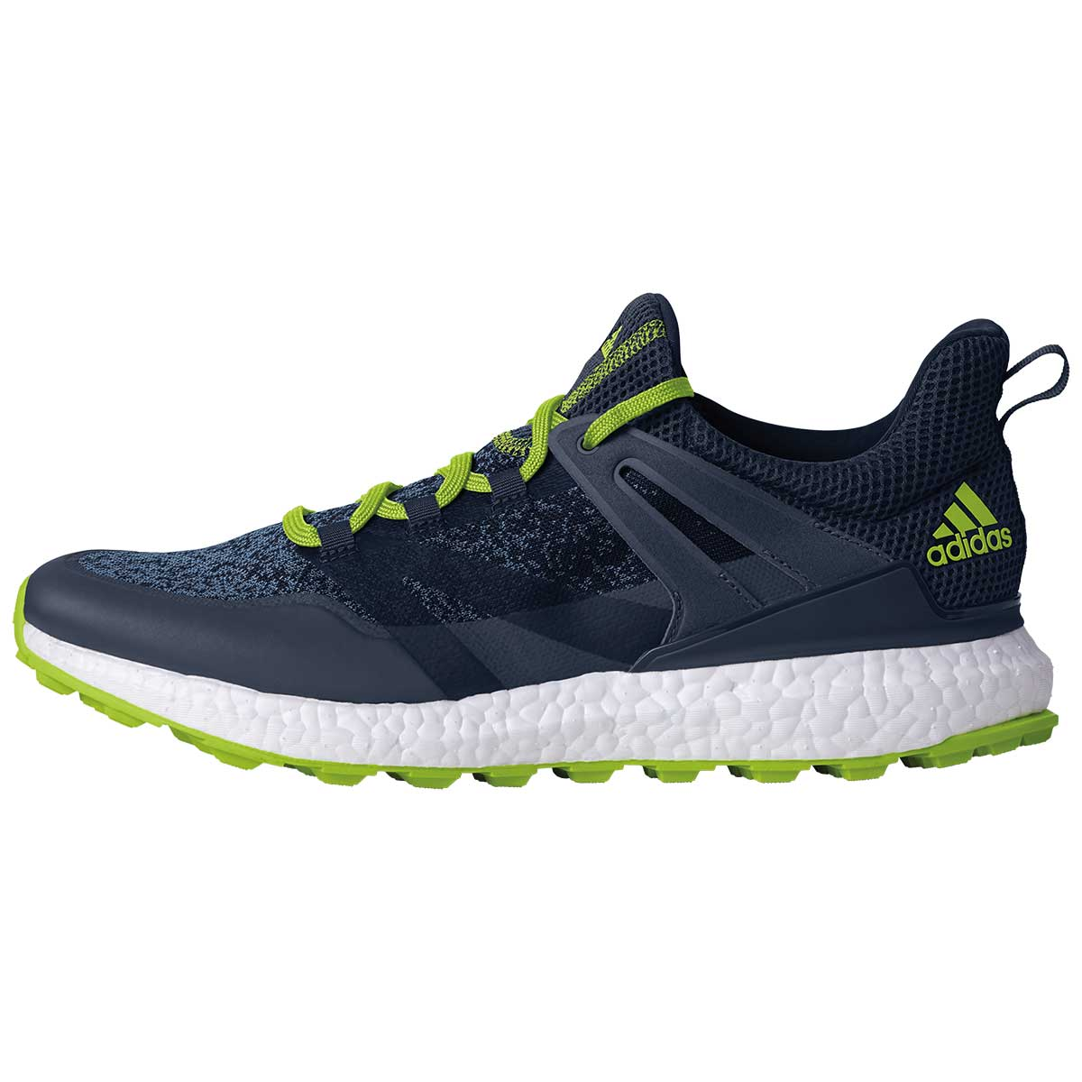 adidas Men's Crossknit Boost Golf Shoe - Navy/Slime