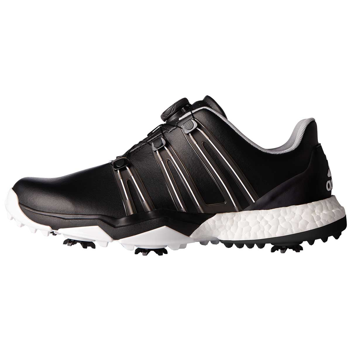 adidas Men's Powerband BOA Boost Golf Shoe - Black/White