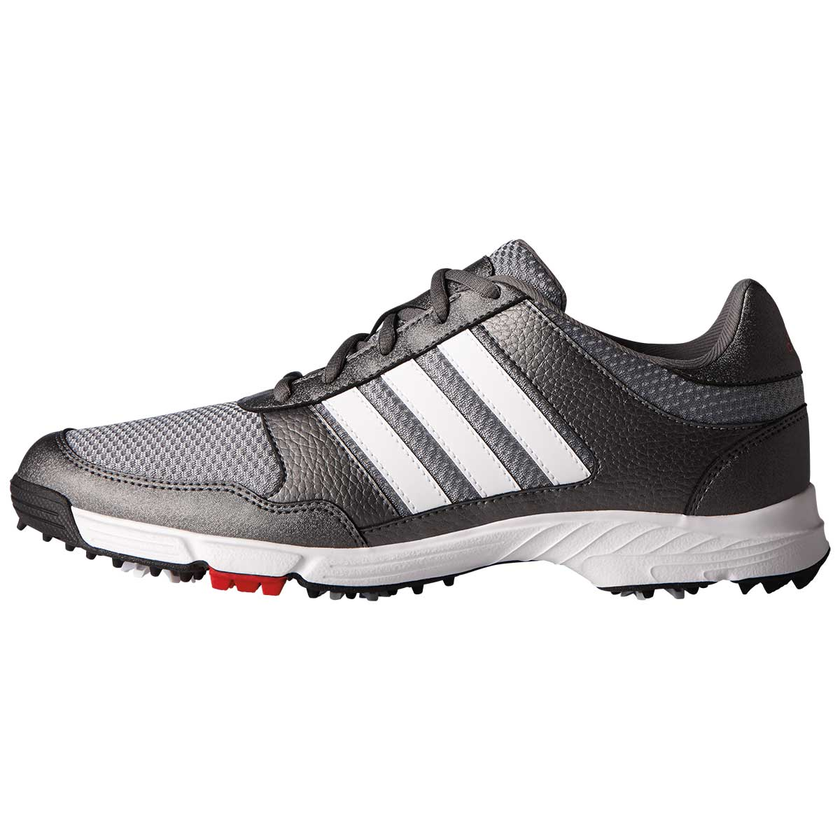 adidas Men's Tech Response Golf Shoe - Iron/White/Black