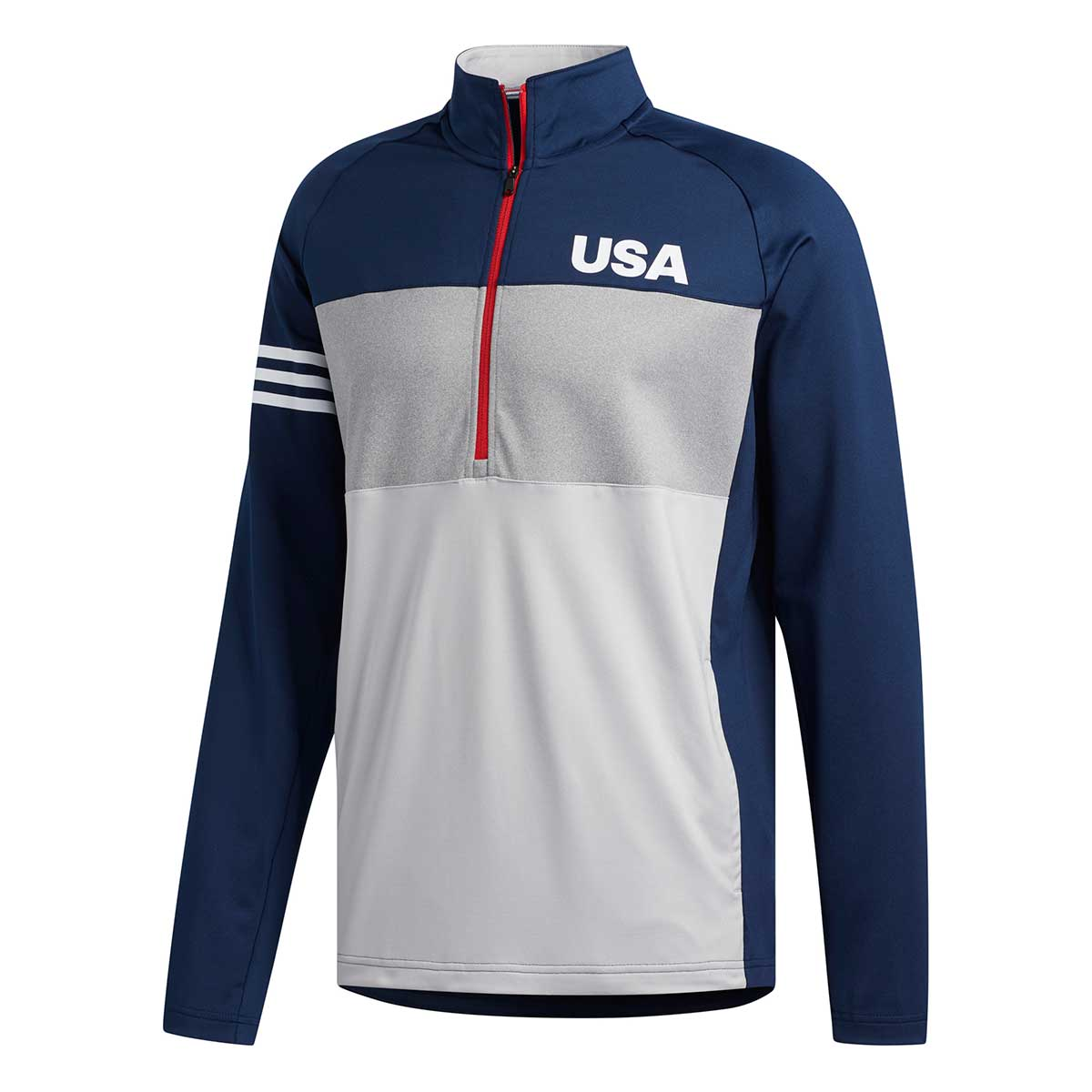 Adidas Men's USA Golf 3-Stripes Competition Pullover