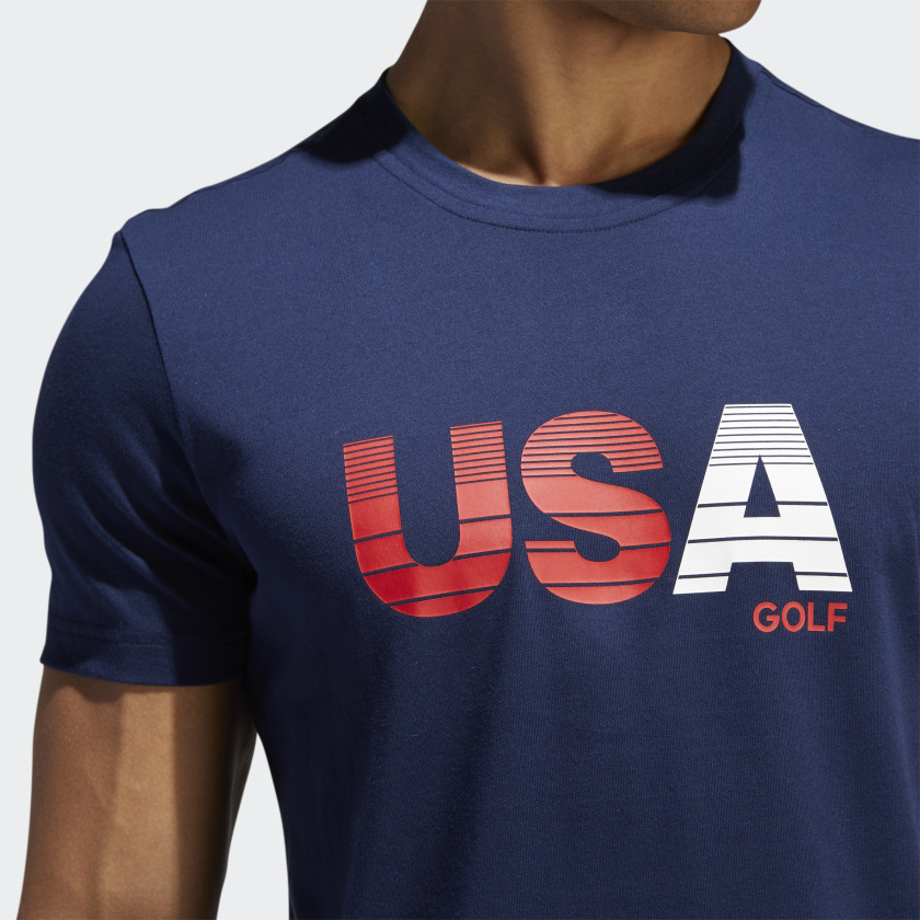 Adidas Men's USA Golf Gradient Bold Print T-Shirt