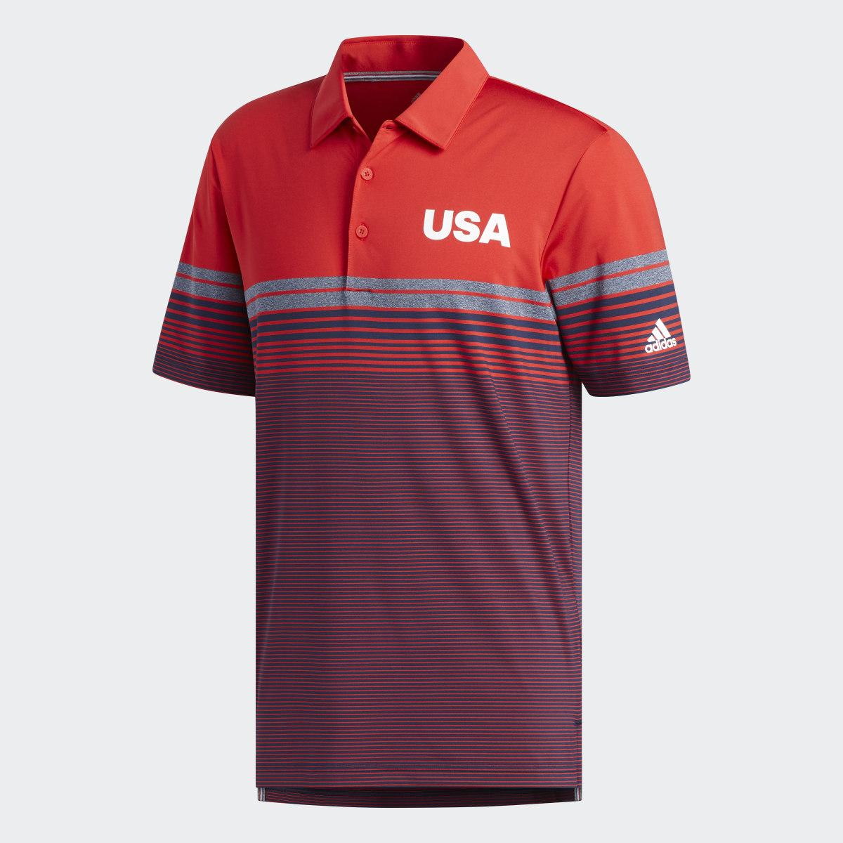 Adidas Men's USA Golf Ultimate365 Stripe Polo