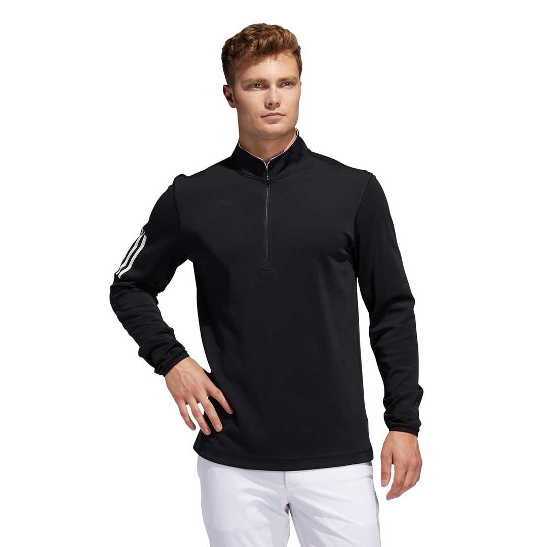 Adidas Men's 3-Stripe Midweight Black Layering Sweatshirt