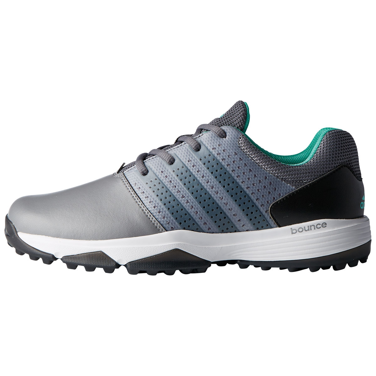 Adidas Mens 360 Traxion Spikeless Golf Shoe - Grey