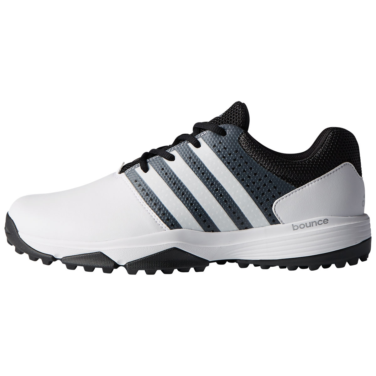 Adidas Mens 360 Traxion Spikeless Golf Shoe - White
