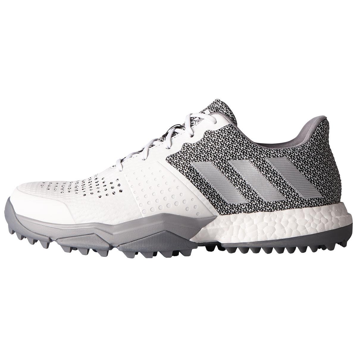 Adidas Mens Adipower Sport Boost 3 Golf Shoe - White/Grey Medium